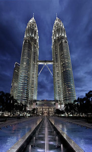 Petronas Towers 1 & 2 - Ranked World 7th and 8th Tallest Towers