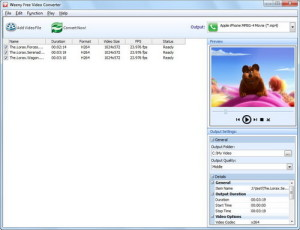 Weenysoft Free Video Converter for Download